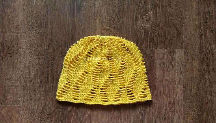postup na letnu hackovanu ciapku pre dievca