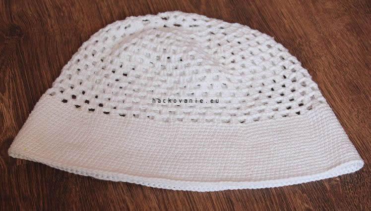 damsky hackovany klobuk na leto