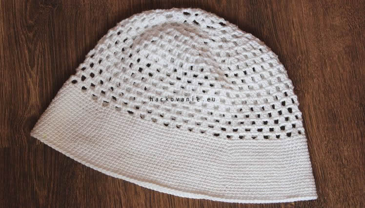 456d4e5a8 Letný háčkovaný dámsky klobúk - NÁVODY NA HÁČKOVANIE