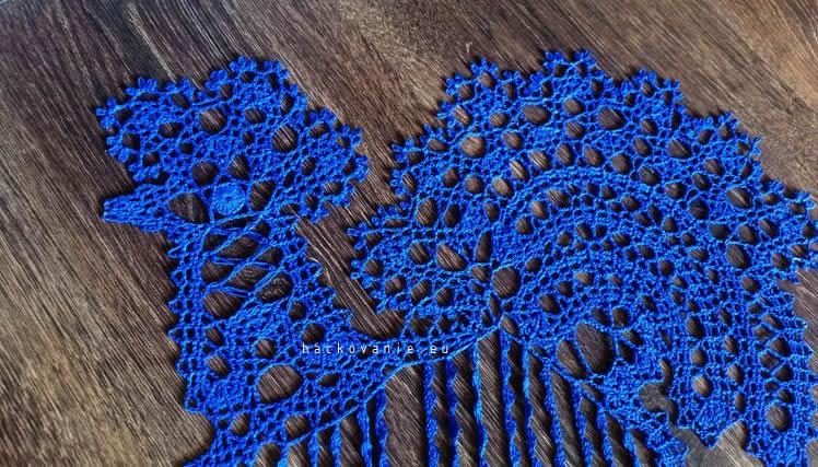 hackovany kohutik flanderska cipka bruges lace