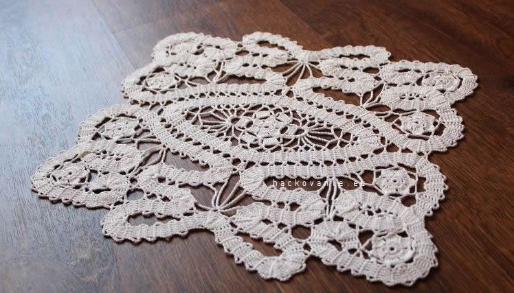 biela hackovana decka bruges lace flanderska cipka