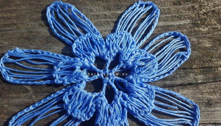 hackovany kvet hackovanie na vidlici postup