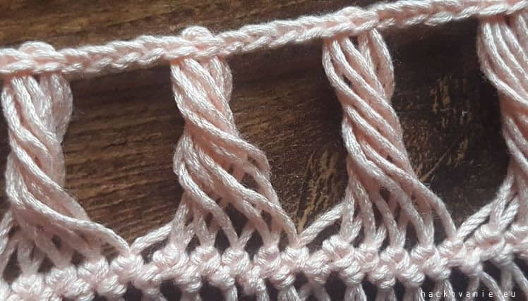 hairpin lace hackovanie na vidlici pre zaciatocnikov