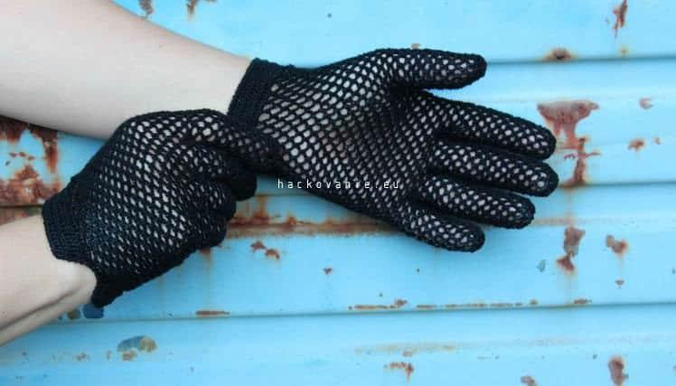 cierne damske rukavicky