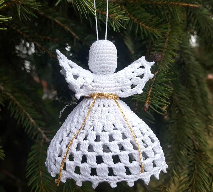 hackovany anjel na stromcek navod