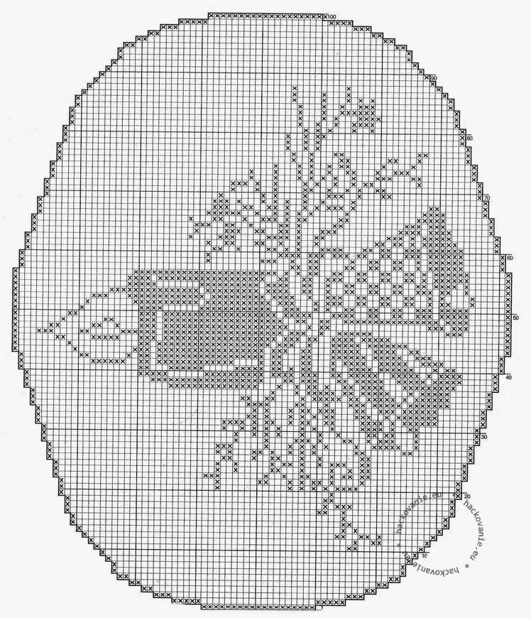 ovalny vianocny obrusok predloha na hackovanie filetove hackovanie