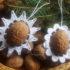 Vianočné ozdoby z orechových škrupín