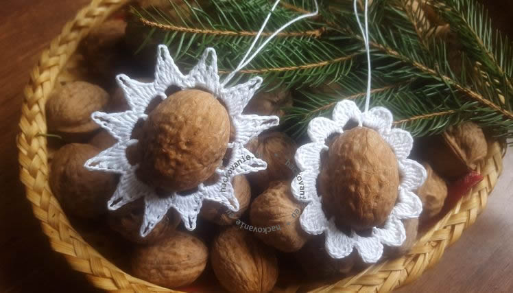 vianocne ozdoby z orechovych skrupiniek postup