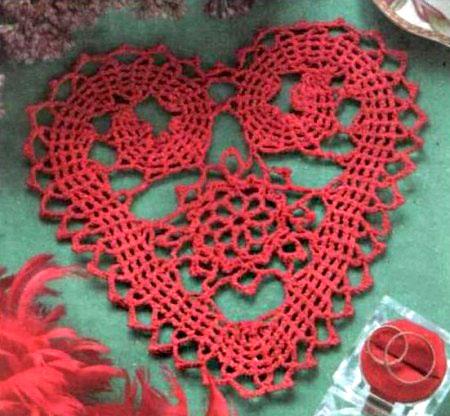 hackovane srdce flanderska cipka bruges lace heart