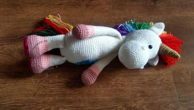 hackovana hracka hackovane zvieratko hackovany jednorozec crochet unicorn toy