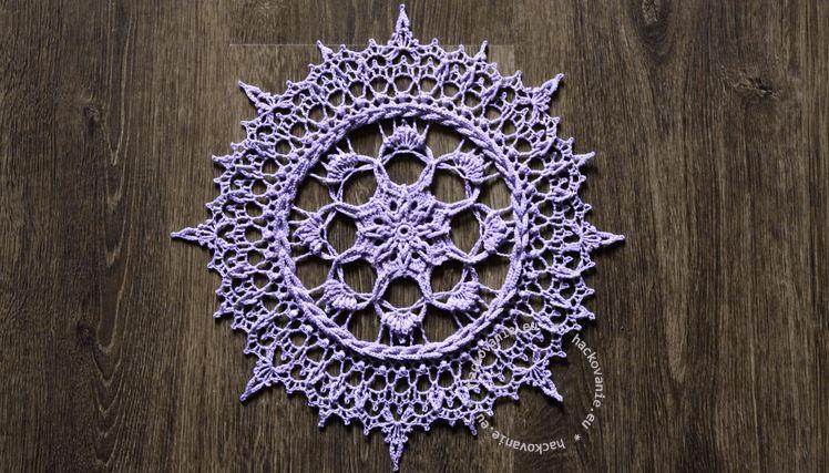 hackovana decka Irene crochet doily Irene by Zoya Matyushenko